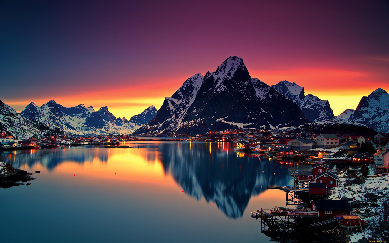 Фото на тел город восс норвегия летний